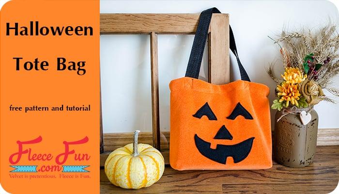 Pumpkin Tote Bag Free Pattern and Tutorial