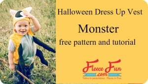 monster dress up vest feature