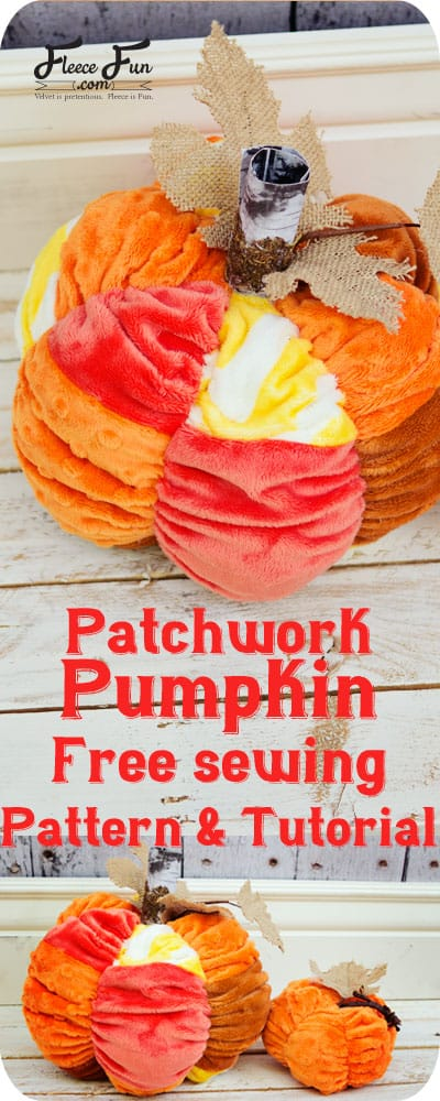 I love this patchwork pumpkin tutorial.  This sewing DIY idea is great for fall decor.