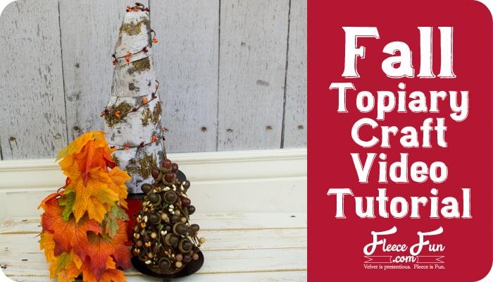 fall topiary craft tutoiral
