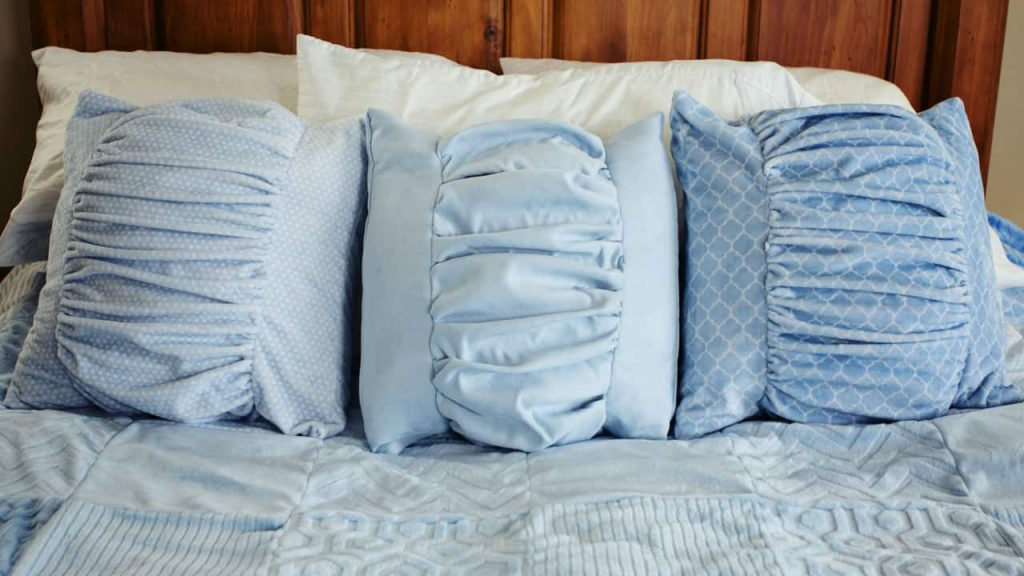 ruched pillows all