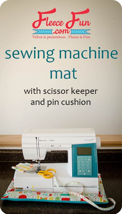 I love this easy to follow sewing DIY on how to make a sewing machine mat. It looks like it would be handy for my sewing space.