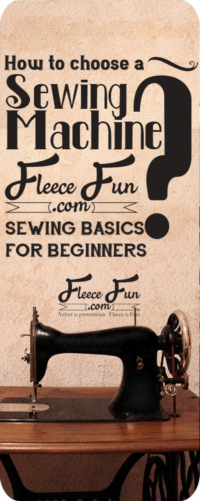 I love her tips on how to choose a sewing machine. She has some valid points that are great for beginners who are learning how to sew!