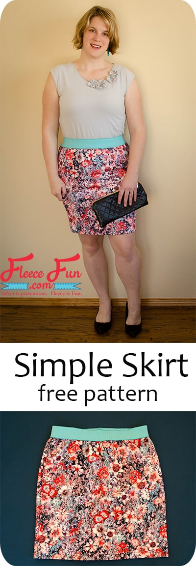You can make this easy simple skirt knit skirt! Comes with measurement chart to get the perfect fit. Great DIY for your wardrobe.