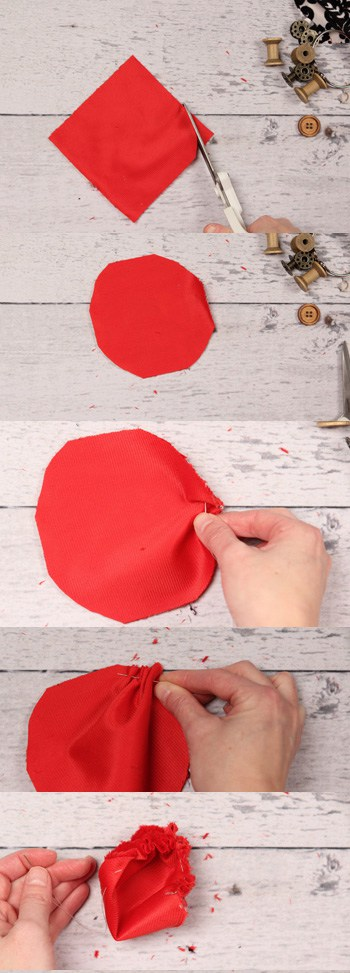 I love this idea for a DIY pin cushion. This is so practical - a pin cusion that you can wear as a bracelet while sewing.