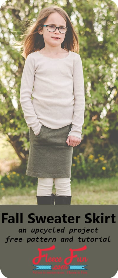 I love this upcycled skirt sewing tutorial!  This looks perfect for fall and a great way to save money on back to school clothing.  This would look so cute with leggings and a great way to keep warm and still be stylish.  This is a great DIY idea for my little girl!
