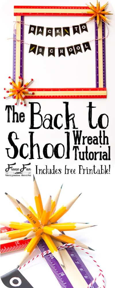 I love this back to school wreath tutorial. I also love that I can find all the items to make this at the dollar store. Such a great back to school idea for decorating. Wonderful DIY.
