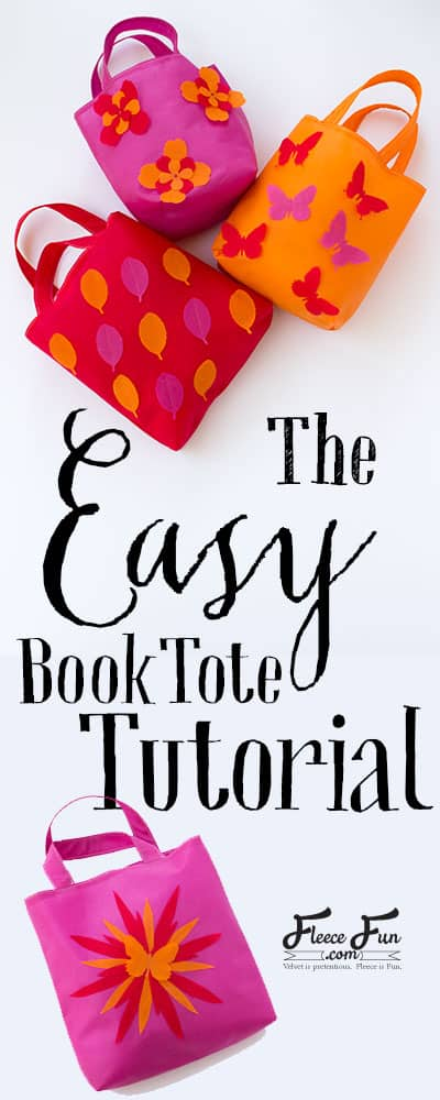 Learn how to make a book tote with these simple and clear step by step instructions.  This easy sewing DIY is a great craft for kids to decorate.  It's also a beginner friendly pattern.