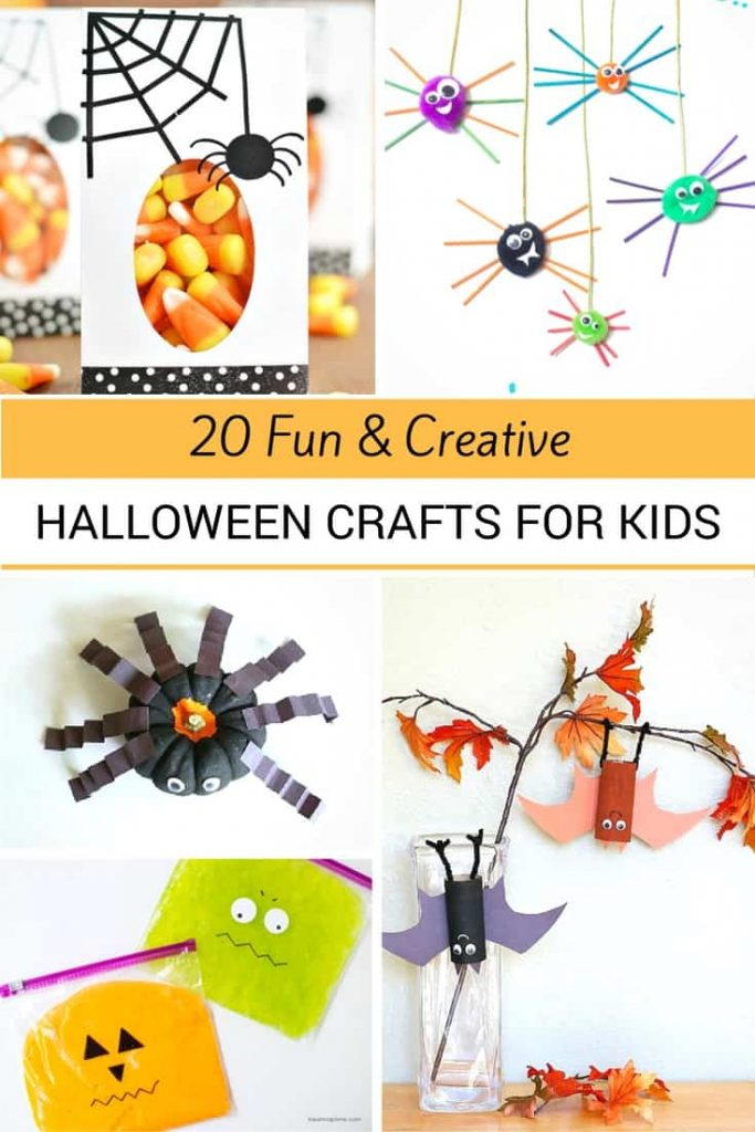 I love all these fun crafts kids can do for Halloween. Great DIY Ideas for keeping kiddos