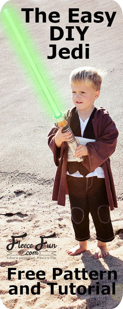 I love this easy to make DIY Jedi Knight inspired by Star Wars! This is perfect for dress up and Halloween. Love this easy to sew DIY idea. #starwars #costumepatterns #halloween