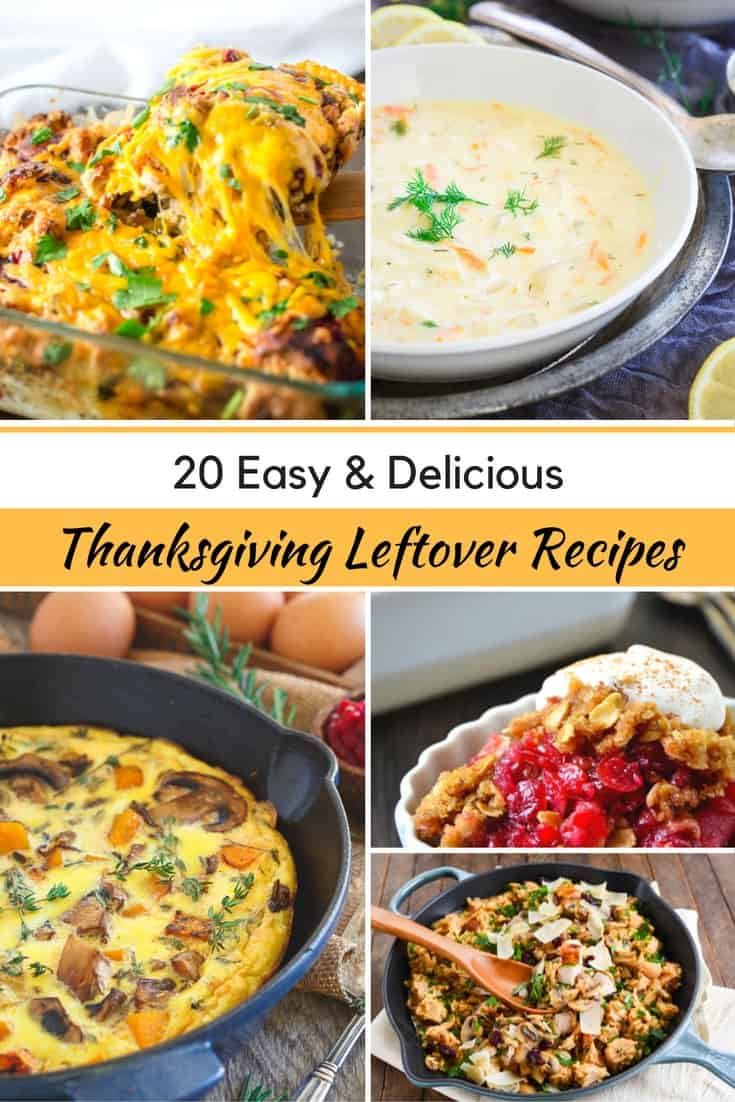I love this collection of thanksgiving leftover ideas.