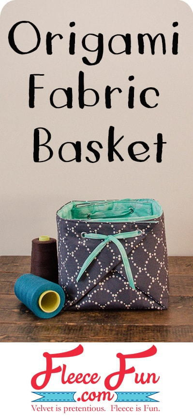 I love this fabric origami box tutorial! Great DIY idea and a perfect sewing project!