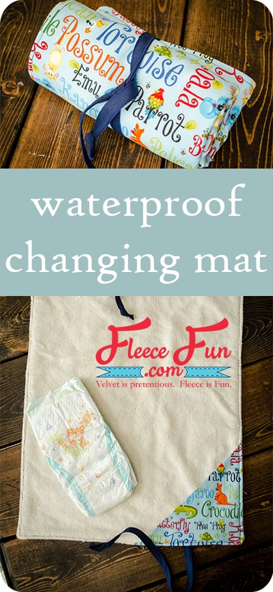 I love this sewing project for babies.  This diaper changing mat is simple to make and the perfect addition to any diaper bag or purse!