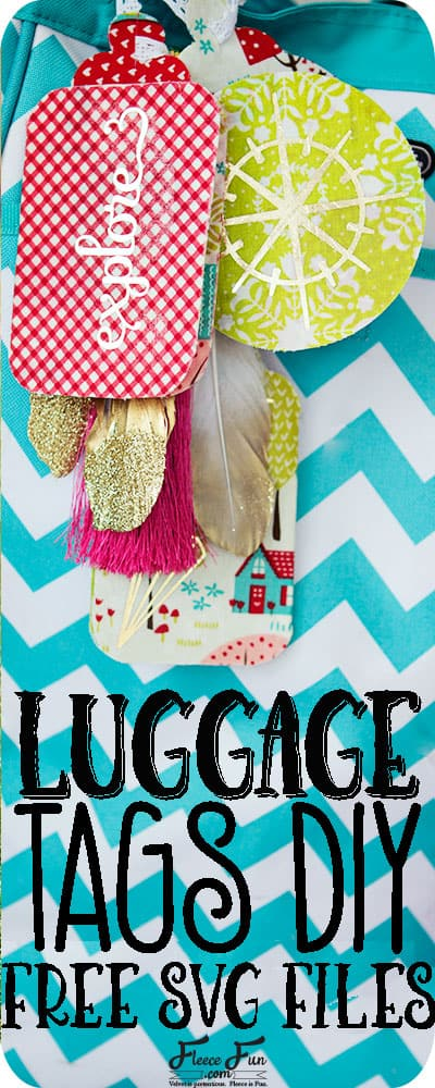 I love this luggage tag DIY!  Such a great handmade gift idea.  Plus you can make it a sewing project or a no sew project!  Perfect for my friend  who loves to travel and wants a more custom ( and easy to spot) tag for her luggage.