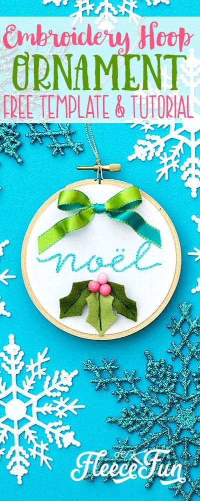 Wow this Christmas Embroidery Designs - Noel Hoop Ornament DIY makes a wonderful handmade gift. Easy step by step instructions and pictures. I love this handmade Christmas ornament and how beautiful it is, perfect for the holidays. #sewingproject #embroiderypatternsfree #handmadechristmasornaments #handmadegiftidea