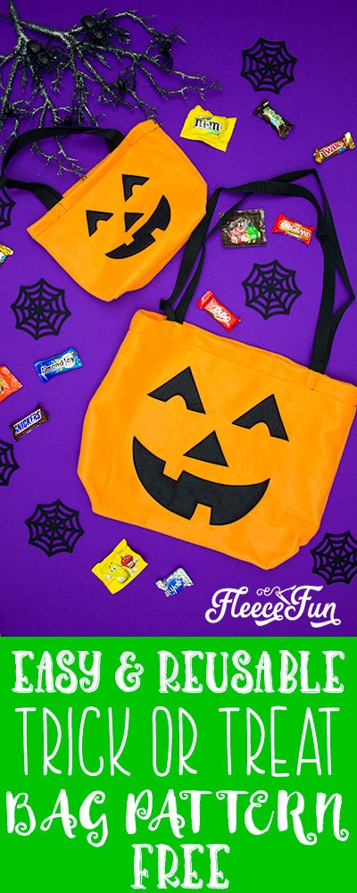 Learn How to make a Halloween Trick or Treat Bag with this FREE pattern and easy to follow tutorial. Make a bag that will last several Halloweens! #halloweensewingprojects #halloweensewing #halloweensewingcrafting #halloweentrickortreatbags #halloweentrickortreatbagsforkids