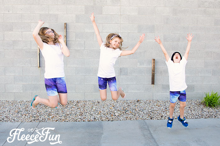 This free shorts pattern is perfect for the hot summer months. Designed so kids can run jump and play no tugging needed. Easy step by step instructions.