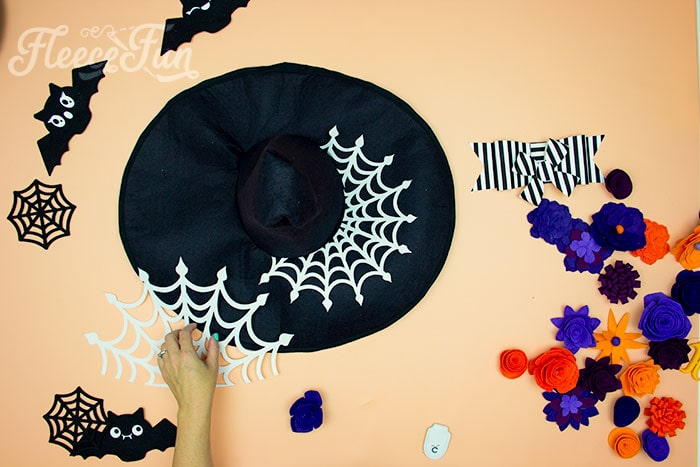 Adding decorations to witch hat. Learn how to make a witch hat with this free pdf pattern and step by step tutorial. This couture style hat is sure to be a favorite year after year.