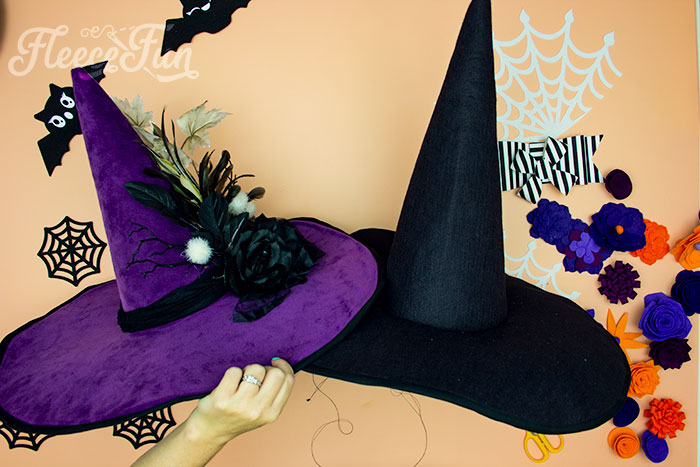 two different takes on teh witch hat. Learn how to make a witch hat with this free pdf pattern and step by step tutorial. This couture style hat is sure to be a favorite year after year.
