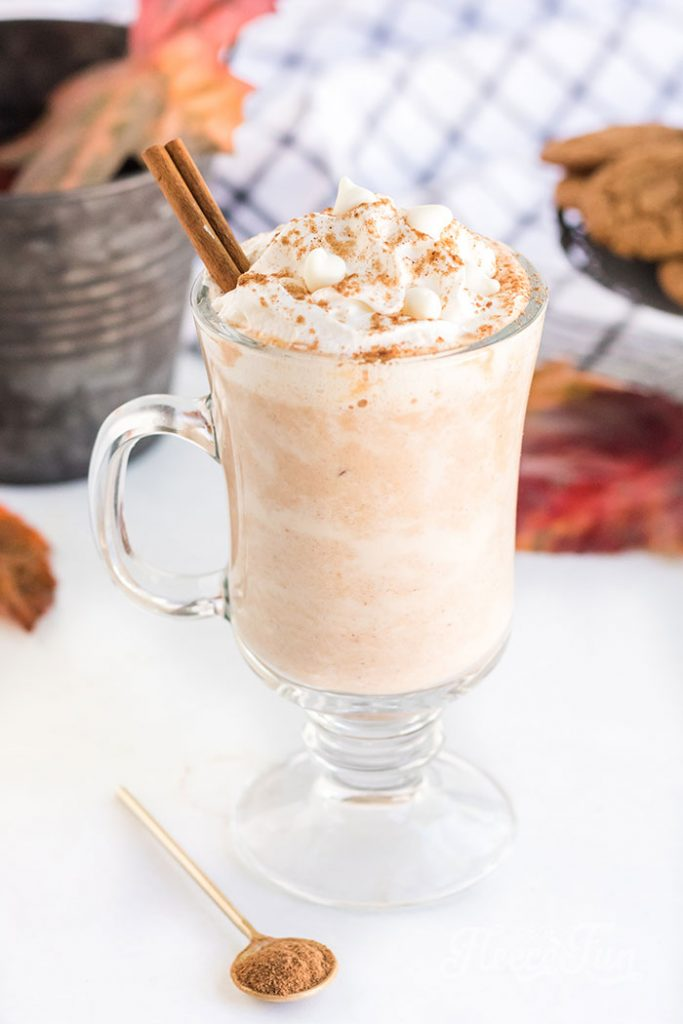 This Pumpkin Hot Chocolate recipe is the perfect addition to a cool autumn evening.  Easy to make!  just dump all the ingredients into a crock pot!