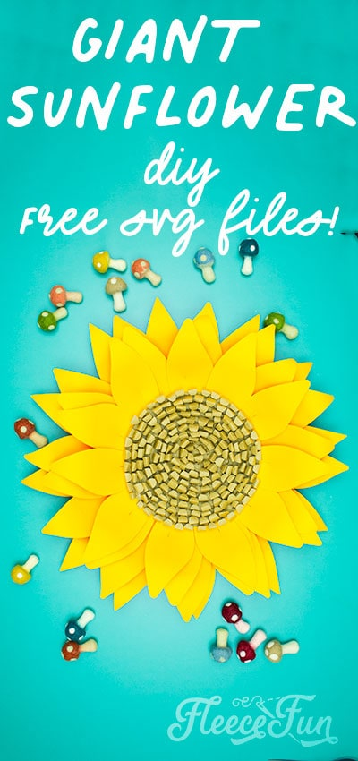 This Giant Paper Sunflower DIY (FREE SVG files) is perfect for fall! Make a Giant flower wall or use it to decorate your space! So many possibilities!