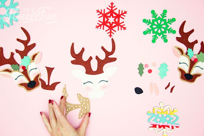 Adding the base nose piece. This adorable Felt Ornament Pattern (Free) is a wonderful way to add some color & personality to your Christmas Tree. Make with a few scraps of felt & glue!