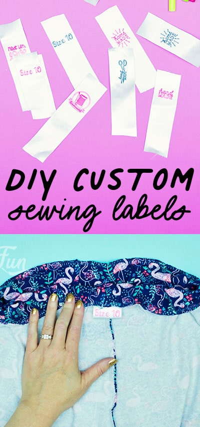 You can make these DIY Custom Sewing Labels (easy). With just a few materials you can make cute washable labels that are the perfect finishing touch to your handmade project.