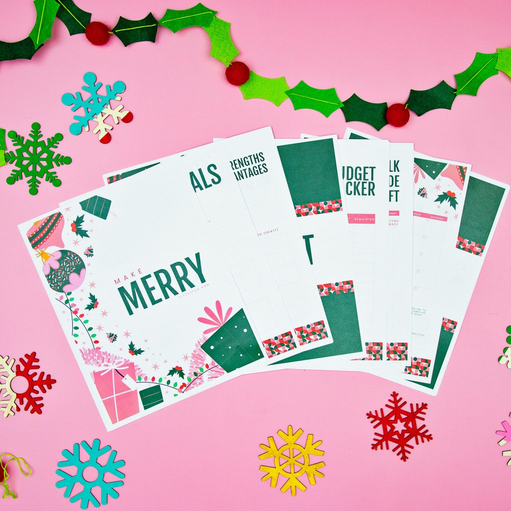 Make it a holiday to remember! This FREE Holiday Planner Printable will give you all the tools make handmade gifts and keep on budget.