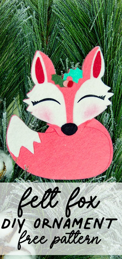 This adorable Felt Fox Ornament DIY (Free Pattern) is a fun addition to your Christmas tree Ornaments! Curled up in it's tail with a bit of holly on it's head this fox is the embodiment of merriment. Use for tree decorations or as a fun addition to a wrapped gift. Also makes a wonderful hostess gift or prize at a holiday party. Perfect handmade ornament to make.