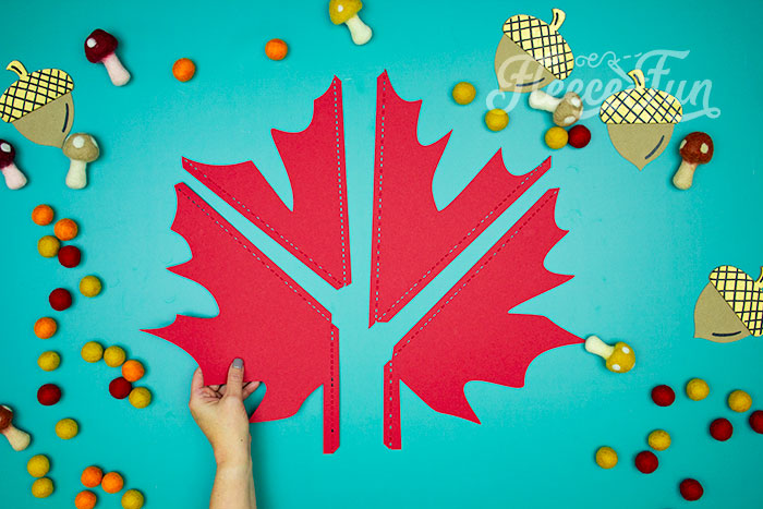 All 4 sections of the leaf. This Giant Maple Leaf Template and Tutorial (Free PDF and SVG) is larger than life. This step by step tutorial shows how to bring fall foliage indoors.