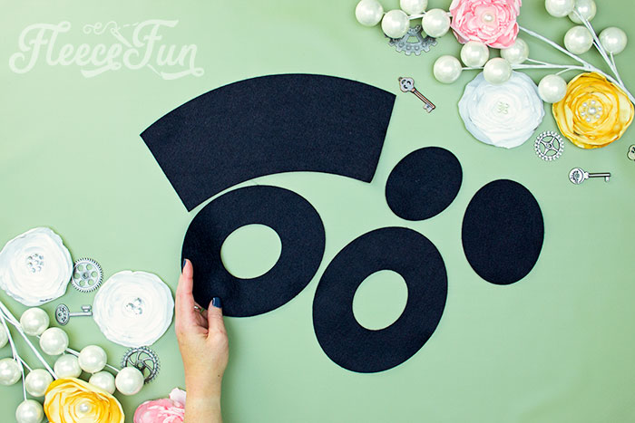 All of the pattern pieces cut out. Learn how to make a mini top hat with this free pattern and tutorial. I love that there is a sew and no sew option. The free template makes this costume idea easy to make at home.