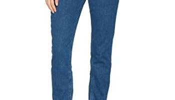 2bf50464 Riders by Lee Indigo Women's Fleece Lined Slim Straight Leg Jean