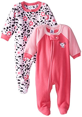 bac1581ba Gerber Baby-Girls Newborn Dalmatian 2 Pack Blanket Sleepers, Dalmatian, 12  Months. By Fleece Pajamas Posted in Footed