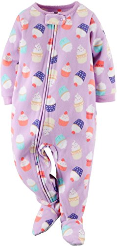 dd84abd3e Carter's Baby Girls Footed Fleece PJ's (3T, cupcake) | Fleece Pajamas