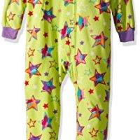 0e95bfed9ce Komar Kids Girls  Big Plush Velour Fleece Footed Blanket Sleeper Pajama