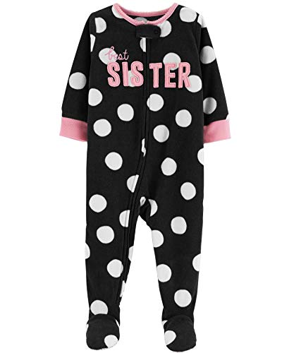 Craters Little Boys 1 Piece Fleece Footless Sleeper Pajamas Red Stripes