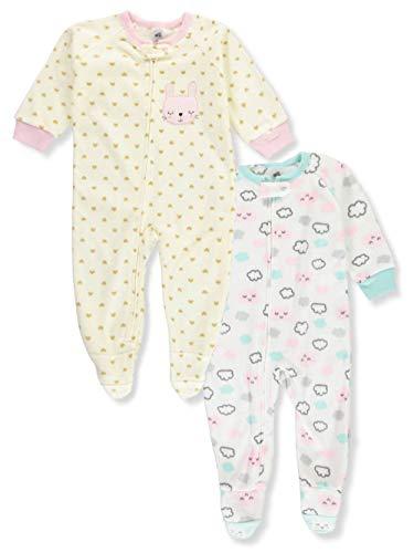 GorNorriss Newborn Infant Baby Fleece Footed Jumpsuit Pram