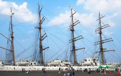 Lady of the sea, Kaiwo Maru II is staying in the Ishikari harbor
