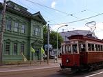 a retro streetcar