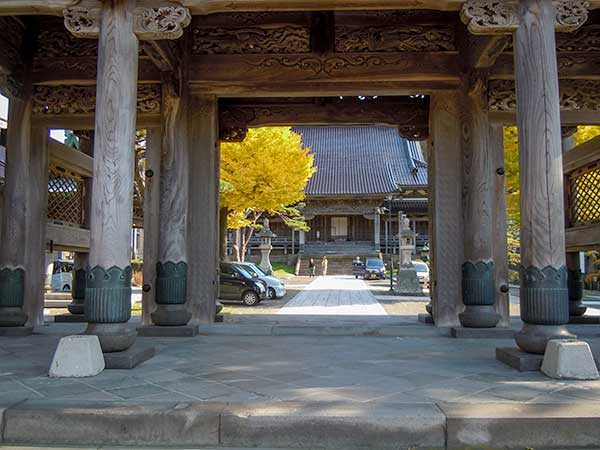 Main building from the gate