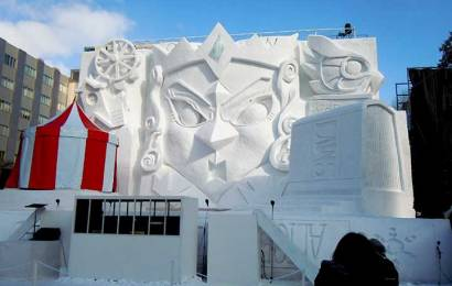 Alice's Adventure in Snow land in Sapporo Snow Festival 2015