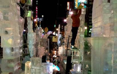 Susukino Ice Sculptures Melted and Destroyed