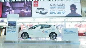 Nissan LEAF aeroporto di ROMA