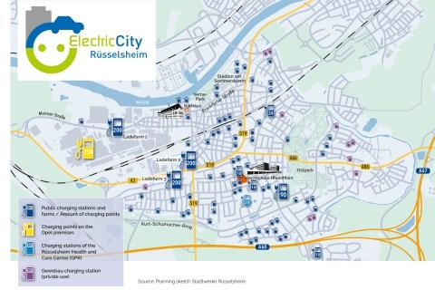 """Rüsselsheim la località sede di Opel diventerà """"città elettrica"""""""