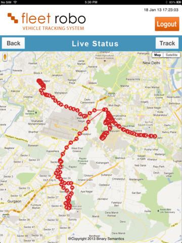 Vehicle Tracking System India Fleet Robo