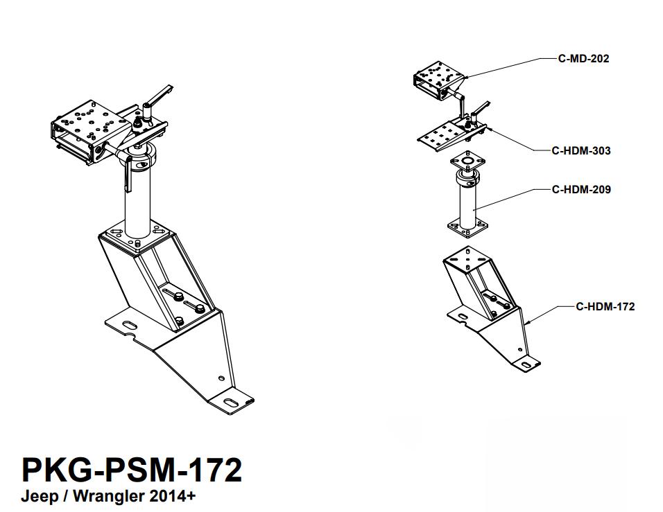 Havis (Jeep Wrangler 2 Door and 4 Door, 2014-2019) Laptop
