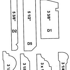 Chair Rail Molding Profiles Self Defense American Wood Moulding Profile Chart Pictures To Pin On