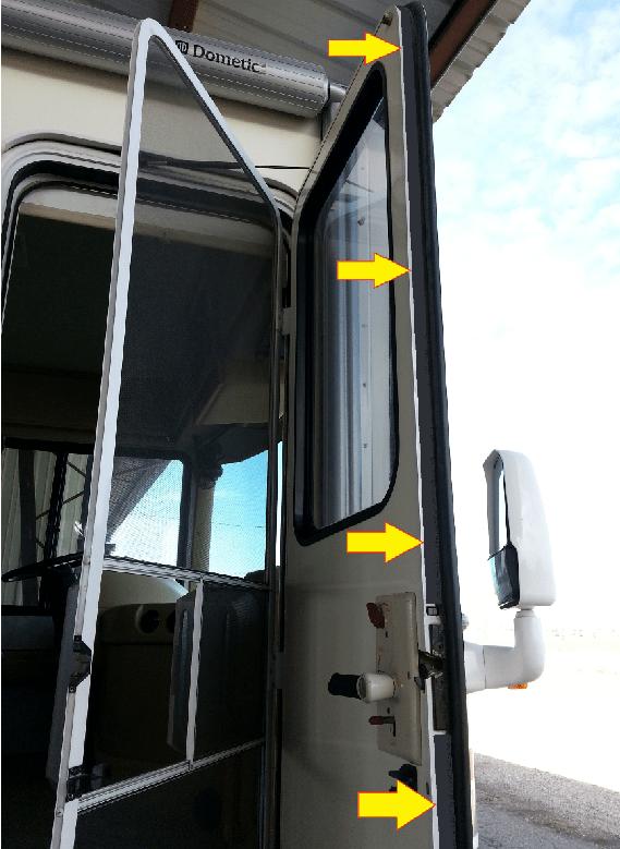 Fleetwood RV Weatherstripping - Outer Door