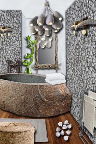 Une salle de bain nature  Floriane Lemari