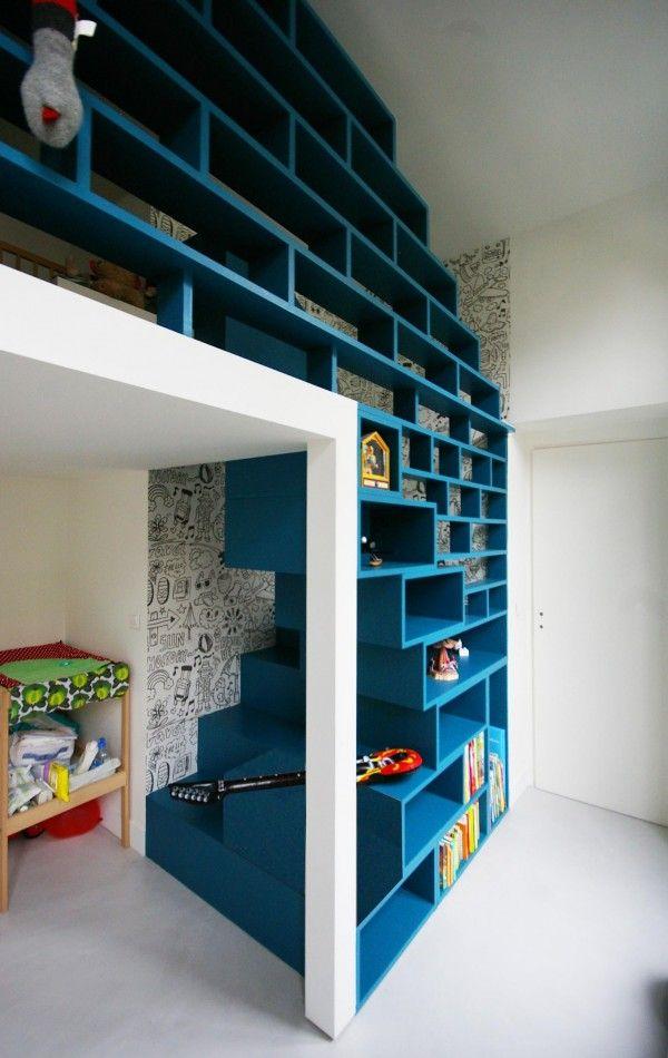 Des escaliers originaux pour la mezzanine  Floriane Lemari